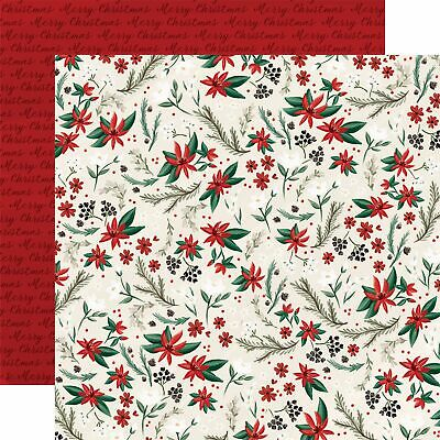 $22.23 • Buy Christmas Market Double-Sided Cardstock 12 X12 -Holiday Floral - 25 Pack