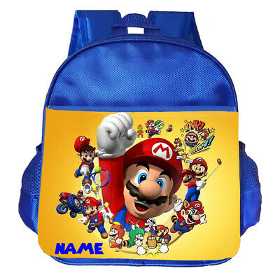 Super Mario Personalised Customised Kids School Nursery Bag Backpack • 14.95£