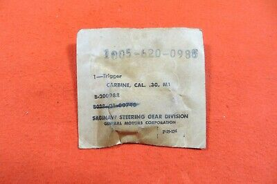 $50 • Buy M1 Carbine Trigger, Made By Saginaw Gear - Marked SG -  NOS New (2797)