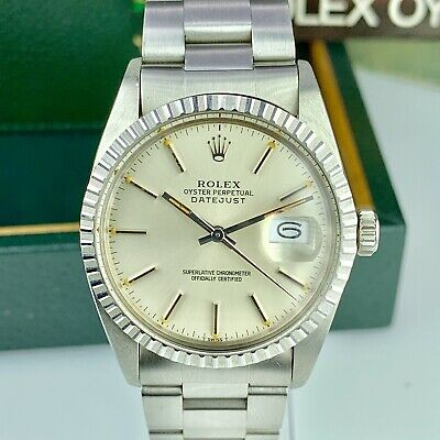 $ CDN9957.67 • Buy 1982 Vintage NOS Rolex Datejust 16030 Silver Dial Box & Papers Full Set