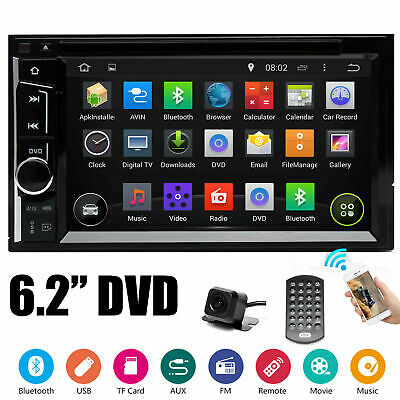$145.88 • Buy For 2005-15 FORD F150/250/350/450/550 2DIN DVD AUX BLUETOOTH RADIO STEREO+CAMERA
