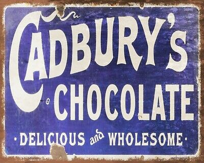 £6.99 • Buy Cadbury's Chocolate Bourneville Sweet Shop Metal Plaque Sign Others Listed1208