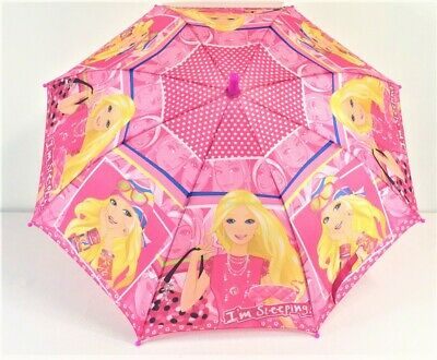 AU15.99 • Buy Barbie Umbrella With Whistle Kids Umbrella Kids Gift - Pink