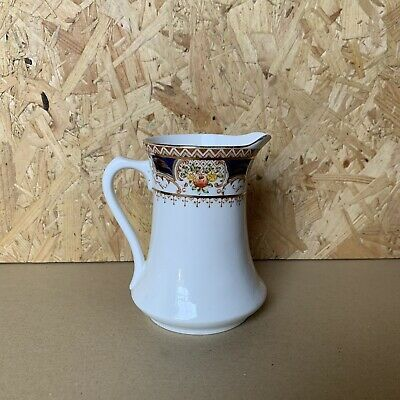 Vintage Royal Osborne China Hand Painted Blue & Gold Milk Jug - 11.5cm • 4.99£