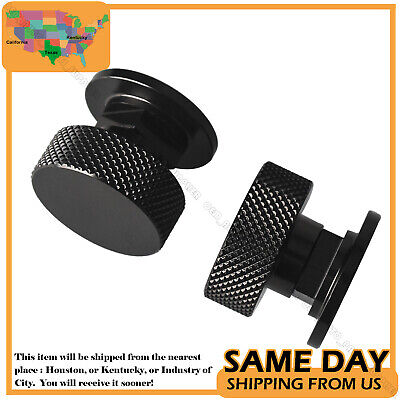 Welding Helmet Fastener Replacement, Light Black Anodized Knurled Aluminum 2pcs • 9.99$