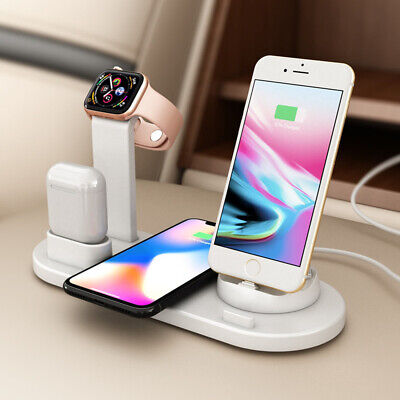 $ CDN16.94 • Buy 4in1 Qi Fast Wireless Charger Charging Dock Stand Station For Apple Watch IPhone