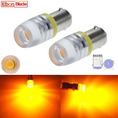 AU5.31 • Buy 2Pc Amber Yellow BAX9S H6W LED Indicator Side Marker Turn Signal Light Bulbs 12V