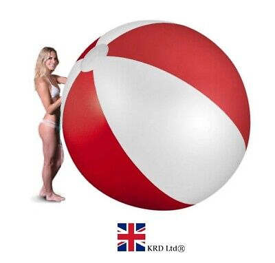 59  GIANT INFLATABLE BEACH BALL Kids Pool Summer Outdoor Fun Panel Toy 150cm UK • 11.80£