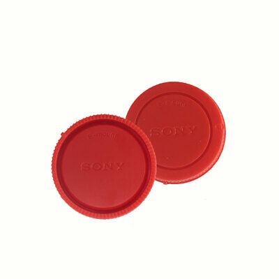 AU3.86 • Buy Red Rear Lens Cap + Camera Front Body Cover For Sony E-Mount NEX