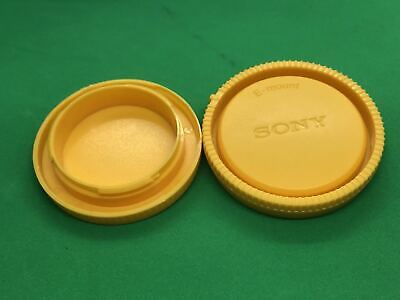 AU3.60 • Buy Yellow Rear Lens Cap + Camera Front Body Cover For Sony E-Mount NEX