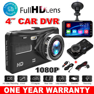 AU50.95 • Buy Car Dash Camera 4in Touch Video DVR Recorder Front And Rear Dual Camera Dash Cam