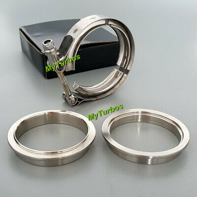 AU29.99 • Buy 2.5  V Band Clamp Flanges Kit 64mm Vband & Male Female Flanges Stainless Steel