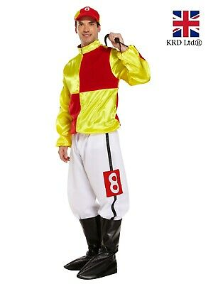 Mens JOCKEY COSTUME Funny Adult Hard Rider Horse Fancy Dress Stag Party Outfit • 20.35£