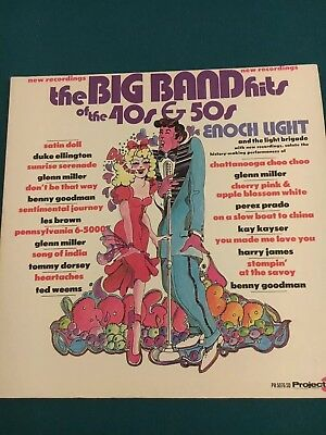 $12 • Buy Big Band Hits Of The 40's And 50's Enoch Light Orchestra Jazz LP Glenn Miller