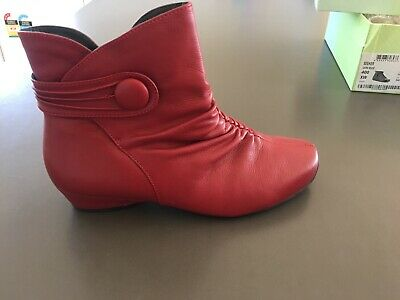 AU159.95 • Buy Ladies Dark Red Leather ZIERA Boots AUS Size 9 EU 40 Mid Height Heels Zip
