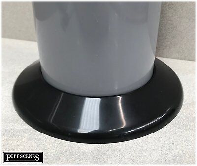 Toilet Soil Pipe Cover / Collar In Black - 110mm • 4.20£