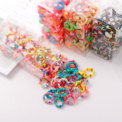 $ CDN5.20 • Buy 100 X Quality COLOURFUL HAIR BANDS Elastics Bobbles Girls School Ponies Ties UK