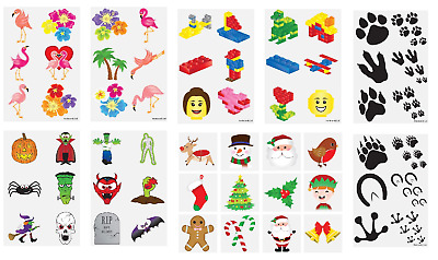 Temporary Tattoo Sheets Fun Children's Party Loot Bag Fillers Boys Girls Kids • 1.89£