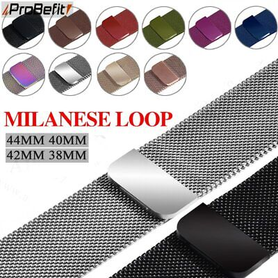 $ CDN7.63 • Buy Milanese Loop Bracelet Stainless Steel Band For Apple Watch Series 1/2/3/4/5