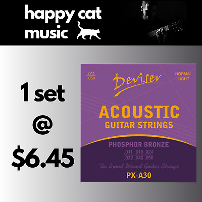 AU6.45 • Buy Set Of Acoustic Guitar Strings (Custom Light 11-50) *** FREE POSTAGE ***