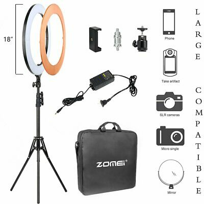 AU94.99 • Buy Zomei 18 Inch Ring Light Dimmable LED With Stand Cell Phone Spring Clip Holder