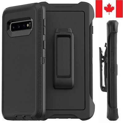 $ CDN8.99 • Buy For Samsung S8 S9 S10 Plus S10e Defender Case Hybrid Shockproof Cover +Belt Clip