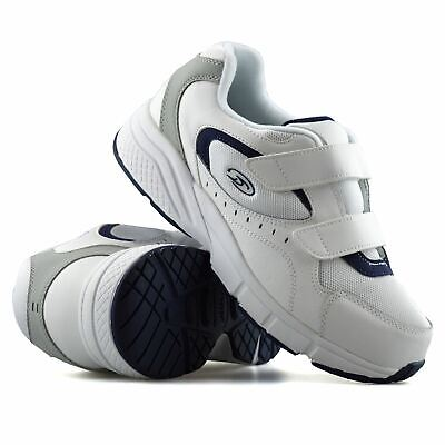 Mens Dr Scholls Wide Fit Leather Casual Walking Gym Comfort Trainers Shoes Size • 18.98£