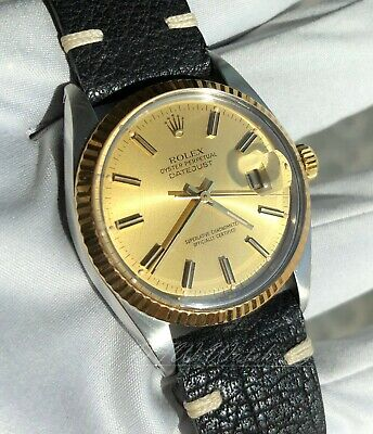 $ CDN4765.64 • Buy Rolex Two Tone Gold Steel Datejust 16013 Vintage Gold Dial 1980 36