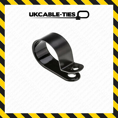 £10.79 • Buy 200 Mixed Black Nylon Plastic P Clips - Fasteners For Cable & Tubing