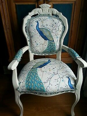 Louis French Style Carver  Chair In Peacock  • 195£