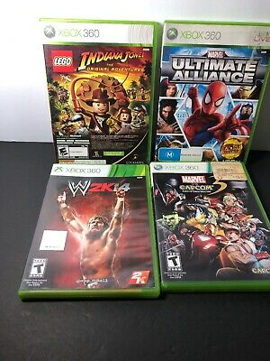 $ CDN80.41 • Buy Lots Of Xbox 360 Games: Marvel Vs Capcom, Lego Indiana Jones Etc...