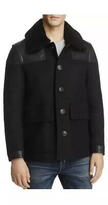 $599 • Buy 100% Authentic Burberry Peacoat With Leather  Coat. New With Tag. Size 48. $1600