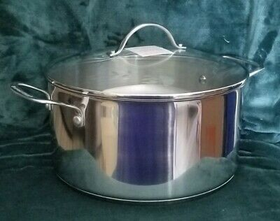 $ CDN157.89 • Buy Princess House Heritage Stainless Steel 9 QT Duth Oven W Glass Lid #6639 NIB