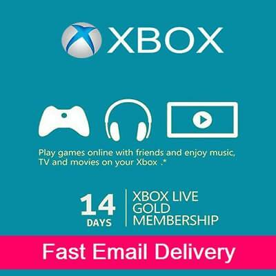 $4.18 • Buy XBOX LIVE 14 Day (2 Weeks) GOLD Trial Membership Digital Code Xbox One - Fast