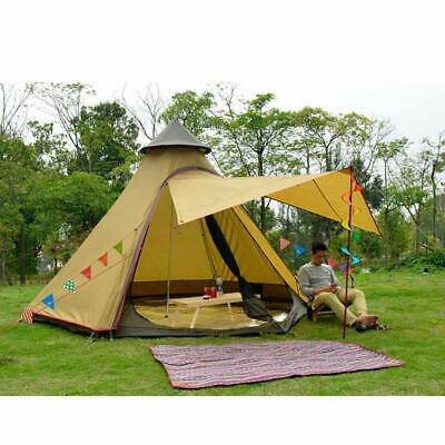 Double Layer Waterproof Teepee TipiTent Yurt Family Glamping Lightweight Outdoor • 149.99£