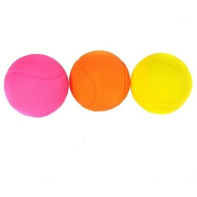 Happy Pet Glow Balls Dog Toy 1 Or 3 PACK Bright Coloured Puppy Vinyl Outdoor Fun • 6.79£
