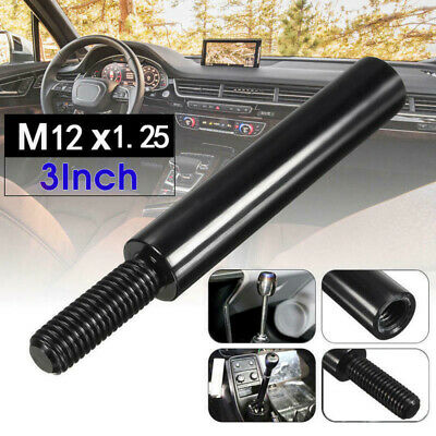 $7.67 • Buy 3  M12X1.25 Black Shift Knob Extension For Manual Gear Shifter Lever Extender