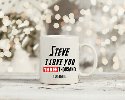 Marvel Endgame I Love You 3000 Inspired Personalised Name Mug Cup IronMan • 9.99£