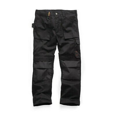 Scruffs Worker Multi Pocket Work Trousers Black Trade (Various Sizes) Mens Cargo • 25.95£