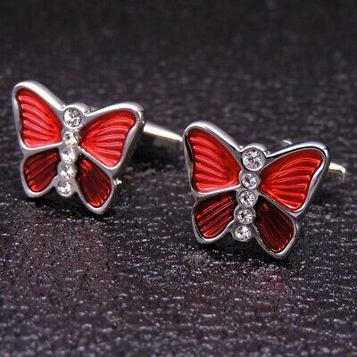 Mens Womens Butterfly Insect Animal Smart Shirt Fashion Cufflinks • 6.99£