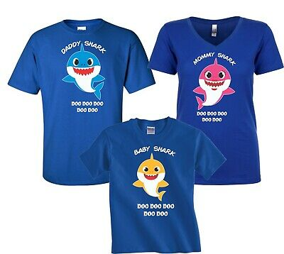 $12.99 • Buy Baby Shark  Mommy Daddy Party Family Shark Birthday Boy Girl T-Shirts