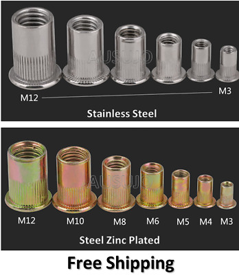 AU12.50 • Buy M3 4 5 6 8 10 12 Rivet Nuts Blind Nut Nutsert Rivnut Stainless Steel Zinc Plated