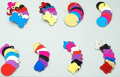 £2.90 • Buy DOG & CAT Pet Id Tags Animal Pets Name Disc Personalised 7 Colors  ENGRAVED