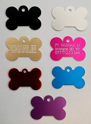 Personalised Pet Id Tag,Dog Identification Tags,Engraved,deep Engraving,dog Tags • 2.99£