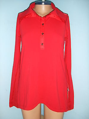 $ CDN79 • Buy LULULEMON PEDAL POWER LS Size 6 Cycling PULLOVER SHIRT CURRANT NWT Long Sleeve