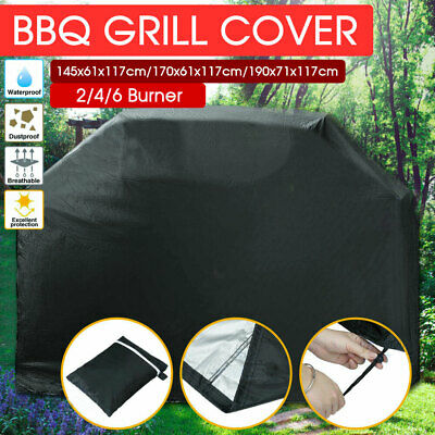 AU21.95 • Buy 2/4/6 Burner BBQ Cover Waterproof Outdoor Gas Charcoal Barbecue Grill Protector