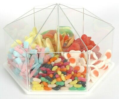 Pick N Mix Food Dispenser Rotating Sweet Gifts Soap Container Bin Sweets OW9740 • 65£