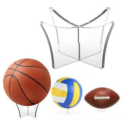 Clear Acrylic Ball Display Stand Basketball Football Rugby Soccer Holder • 2.47$