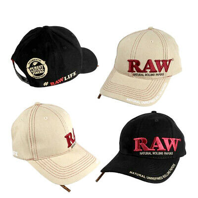 £14.95 • Buy RAW Baseball Hat With Wooden Poker Tool Black Beige Color Rolling Cap UK