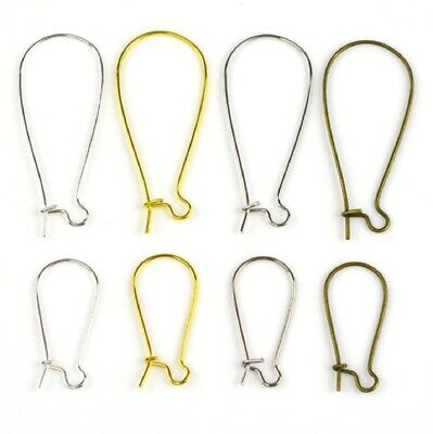 3 Sizes Kidney Earring Hooks Blanks Clasps Wire Jewellery Findings Fittings DIY • 1.75£